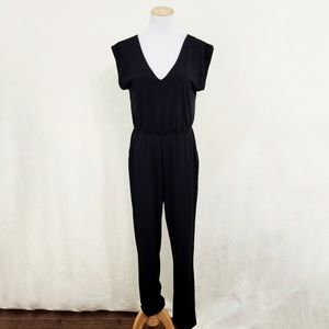 Silence + Noise black jumpsuit solid short sleeve